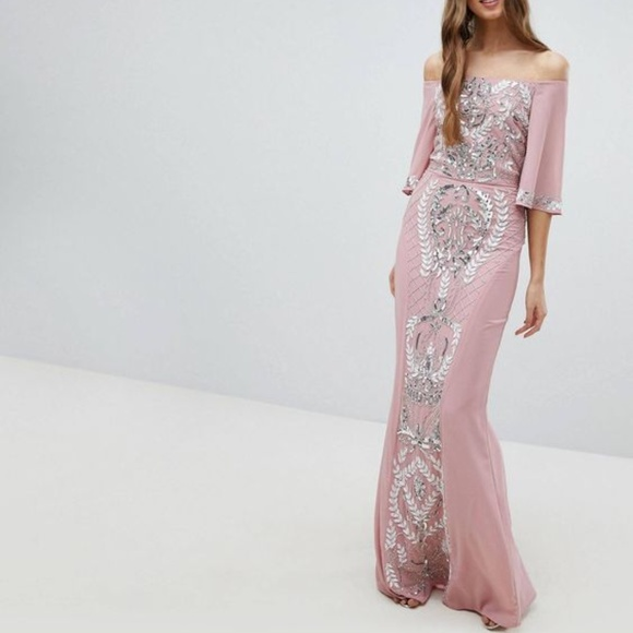 42fdf056 maya Dresses | Nwt Asos Embellished Maxi Dress 6 | Poshmark